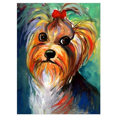 "Yorkshire Terrier #1 11x17"" Print Canvas Art"