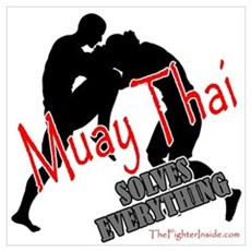 Muay Thai Solves Everything Canvas Art