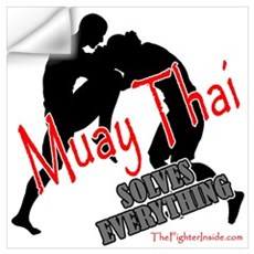 Muay Thai Solves Everything Wall Decal
