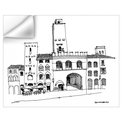San Gimigniano Wall Decal