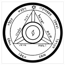 4th Pentacle of Saturn Control People Poster