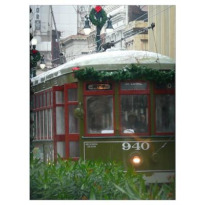 Snow on Streetcar Poster