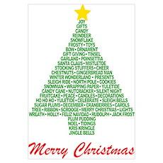 Christmas Tree Words Poster