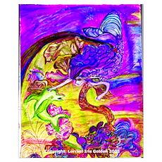 Mermaid Violet Bliss Poster