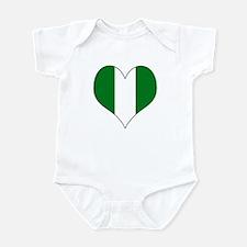 Nigeria Heart Infant Bodysuit