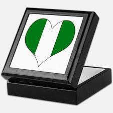 Nigeria Heart Keepsake Box
