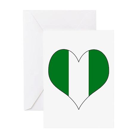 Nigeria Heart Greeting Card