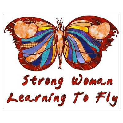 Strong Woman Learning To Fly Framed Print