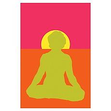 Lotus Yoga Poster