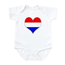 Netherlands Heart Infant Bodysuit