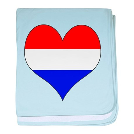 Netherlands Heart baby blanket
