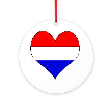 Netherlands Heart Ornament (Round)