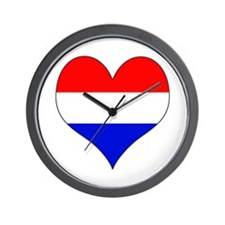 Netherlands Heart Wall Clock