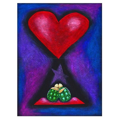 Turtles in Love Framed Print