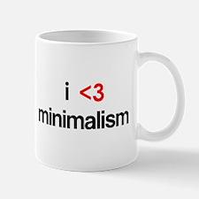 i <3 minimalism Mug