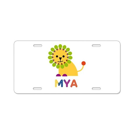 Mya the Lion Aluminum License Plate
