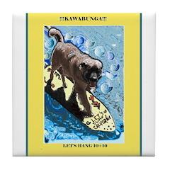 """""""Surfing Dog"""" Tile Coaster"""
