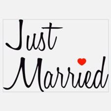 Just Married (Black Script w/ Heart)
