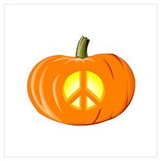 Peace Pumpkin Poster