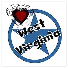Love West Virginia Poster