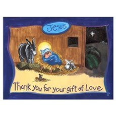 Thank You Baby Jesus Framed Print