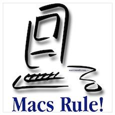 """Macs Rule!"" Poster"