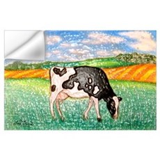 Cow in Meadow Wall Decal