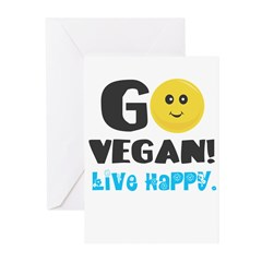 Go Vegan Greeting Cards (Pk of 10)