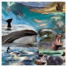 Aquatic Endangered Species Poster