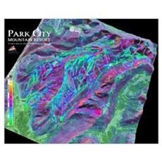 Park City Small 3dSkiMaps Poster