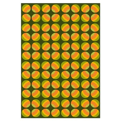 Mod Polka Dot Retro Canvas Art