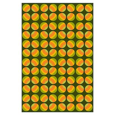 Mod Polka Dot Retro Poster