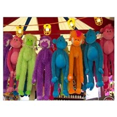 Stuffed Carnival Monkeys Poster