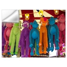 Stuffed Carnival Monkeys Wall Decal