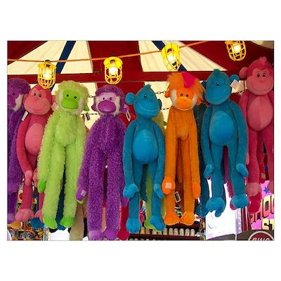 Stuffed Carnival Monkeys Poster