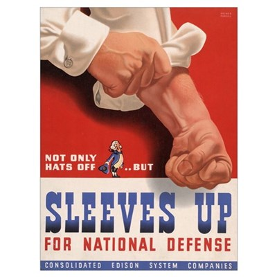 WWII SLEEVES UP Poster