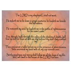 Psalm 23, the Lord is my Shepherd Framed Print