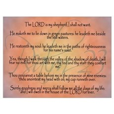 Psalm 23, the Lord is my Shepherd Poster