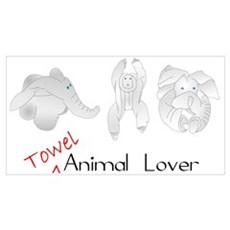 Towel Animal Lover Canvas Art