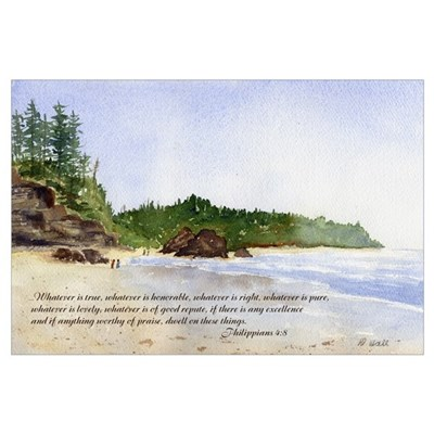 Peaceful Choice- Watercolor Poster
