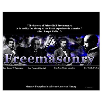 Masonic Footprints in African-American History Canvas Art