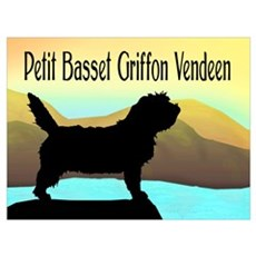 Petit Basset By The Sea Poster