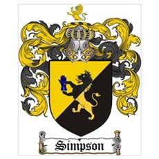 Simpson Coat of Arms Poster