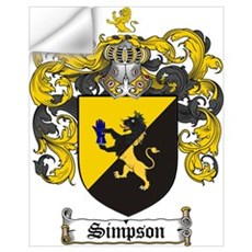 Simpson Coat of Arms Wall Decal
