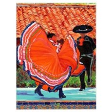 Mexican Dancers in Old Town Framed Print