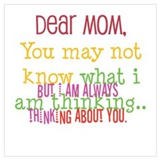 mom,thinking of you Poster
