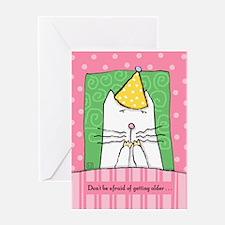 Cat Birthday, Getting Older Greeting Card