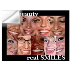 - Real Smiles Wall Decal