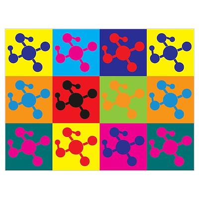 Polymer Chemistry Pop Art Poster