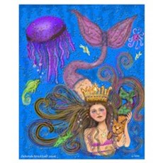 Mermaid & Mercat diva & Cat Canvas Art